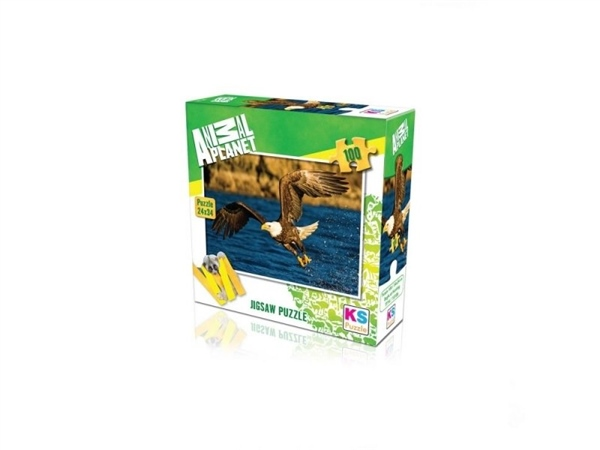 Ks Puzzle 100 Parça Aeagle At Hunting Animal
