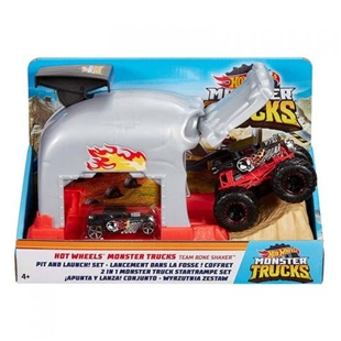 Hot Wheels GKY01  Monster Trucks Fırlatıcılı Oyun Seti